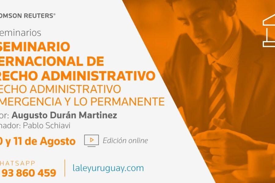 Jaime Rodriguez-Arana participa en el Seminario Internacional de Derecho Administrativo: la emergencia y lo permanente